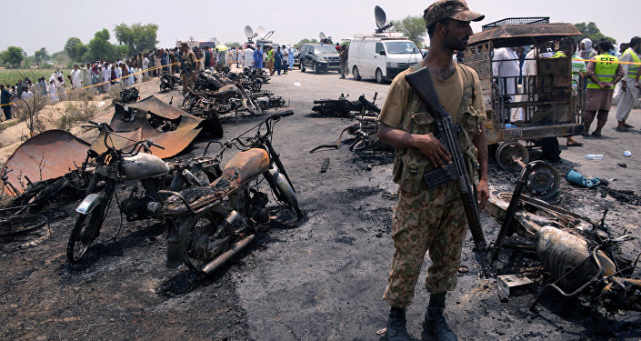 Incendie au Pakistan