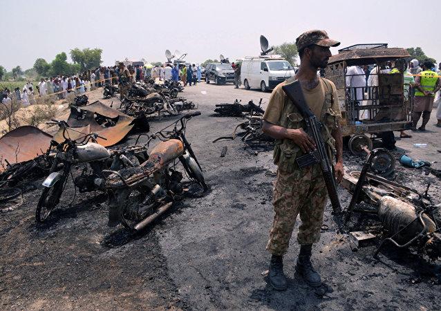 Sur les lieux de l'incendie dans le Punjab
