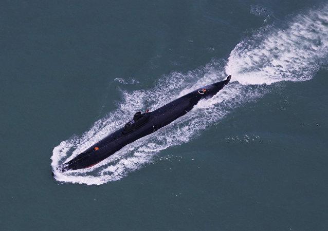 Un sous-marin de la flotte de Nanhai de la Marine chinoise participant aux manoeuvres dans la mer de Chine méridionale