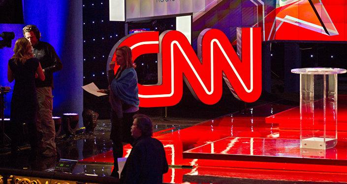 CNN-Studio während TV-Debatte der Präsidentschaftskandidaten von Republikanischer Partei (Archivbild)