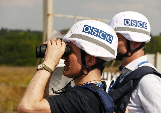 l'OSCE dans le Donbass