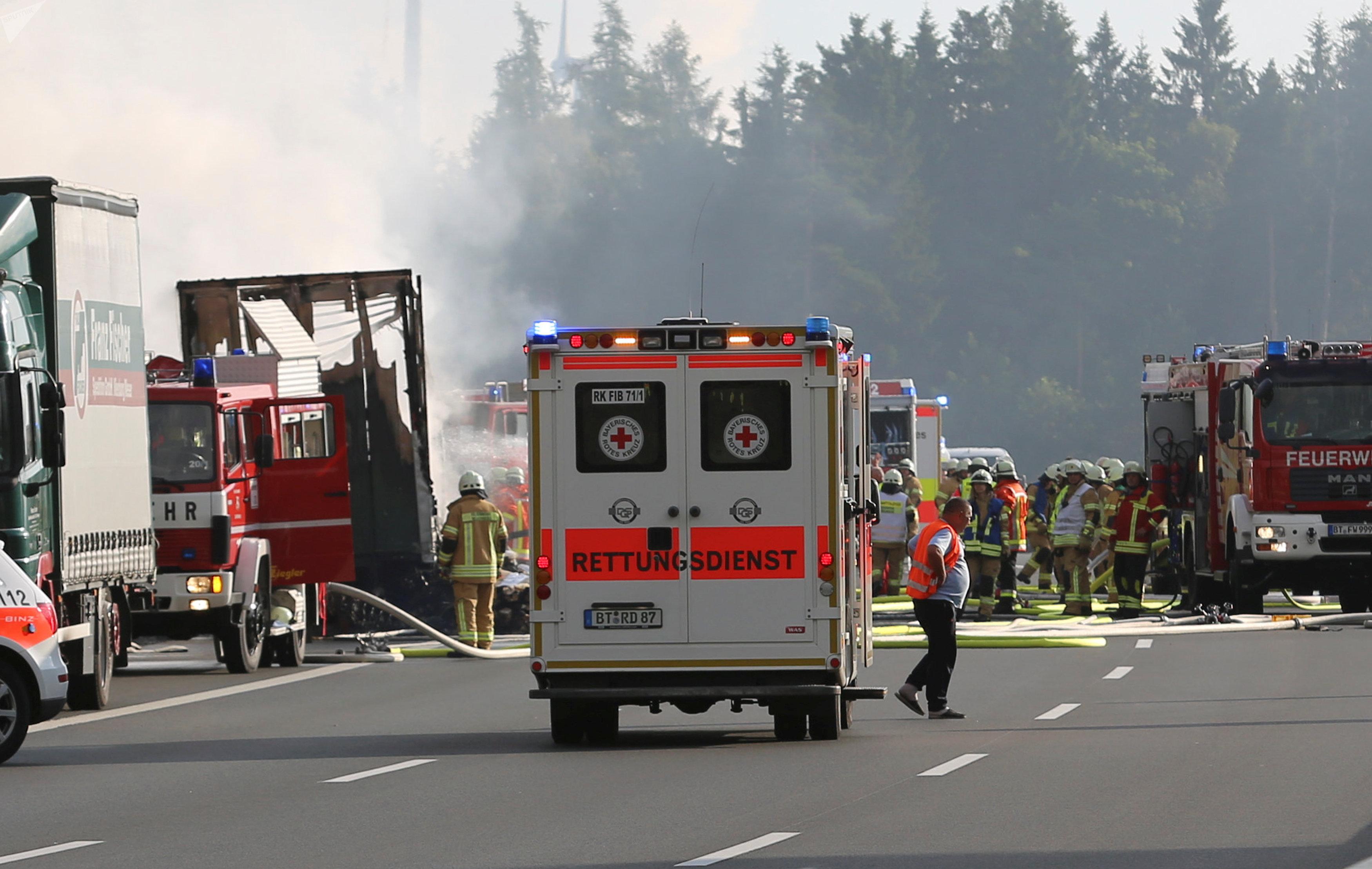 L'accident sur l'autoroute A9 en Allemagne