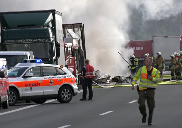 Accident routier près de Münchberg