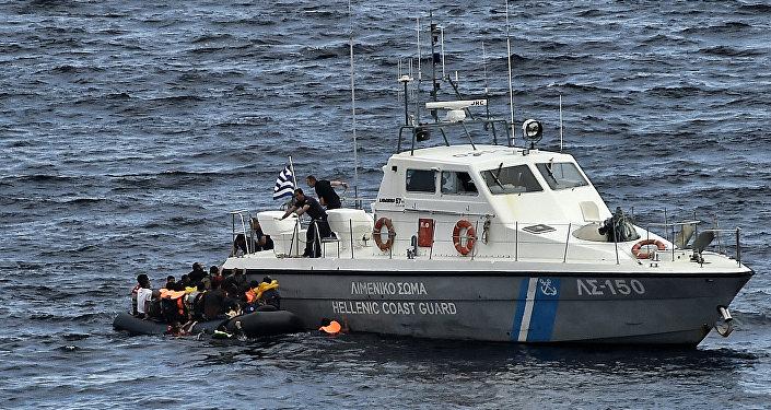 Une garde côtière grecque