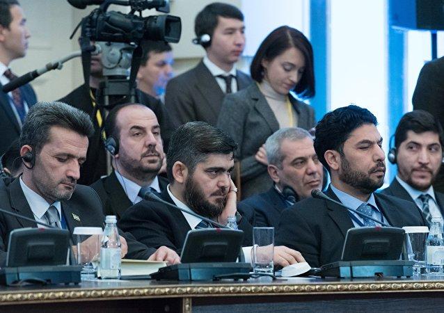 Délégation de l'opposition syrienne à Astana. Image d'archives