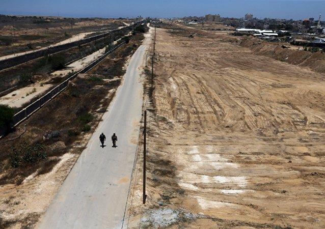 Membres des forces de la sécurité paléstiniennes loyales au Hamas