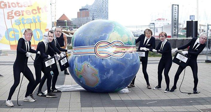 Protestation contre le sommet du G20 à Hambourg