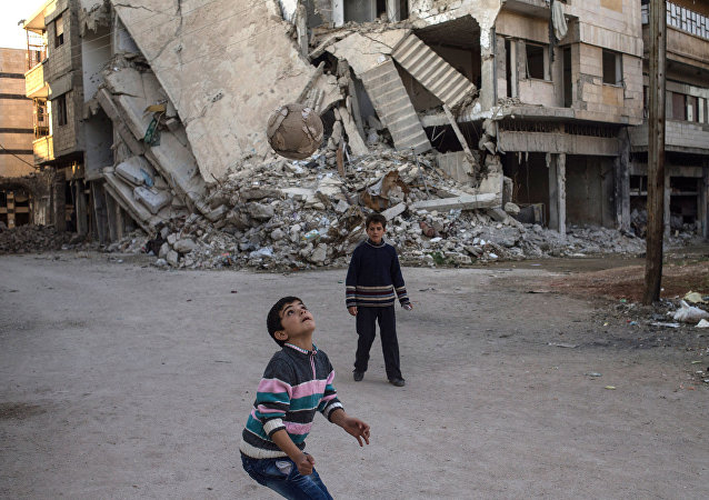 Разрушенный район Хомса аль Хамидия