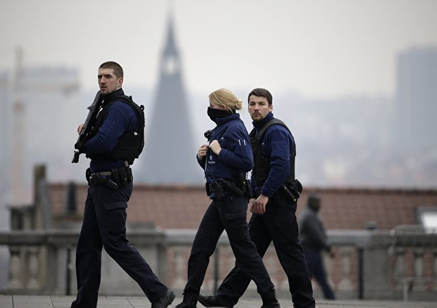 Police à Bruxelles. Archive photo