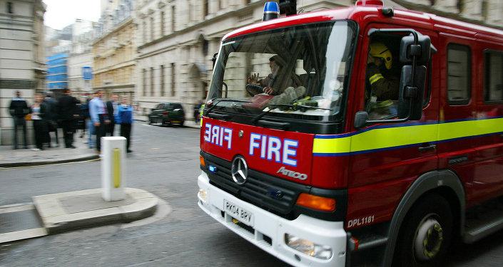 Un véhicule de pompiers britanniques (image d'illustration)