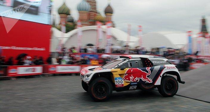 Le commencement du Rallye de la route de la Soie à Moscou