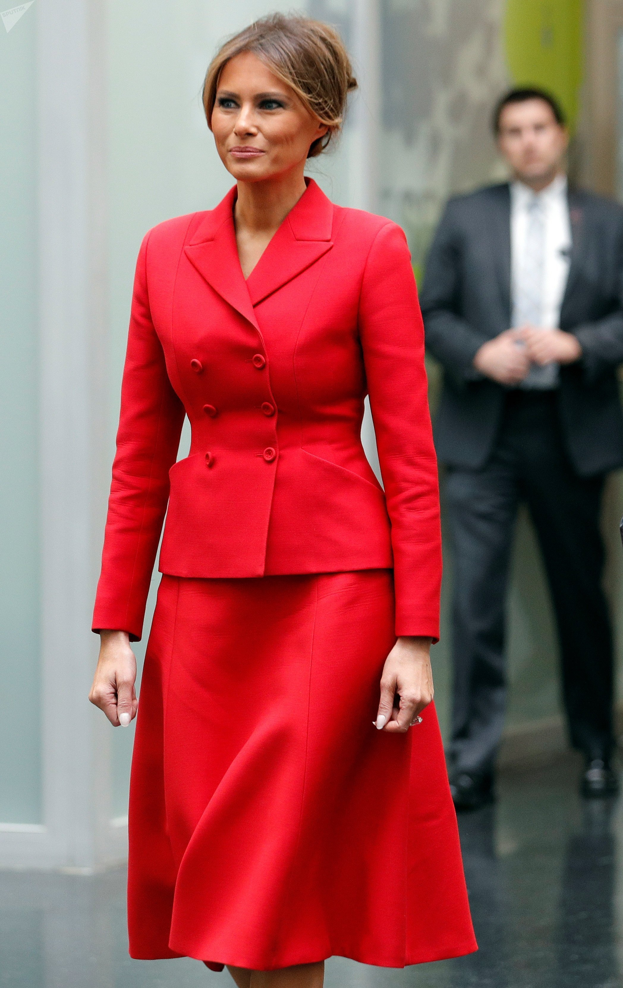 La Première Dame américaine Melania Trump à Paris