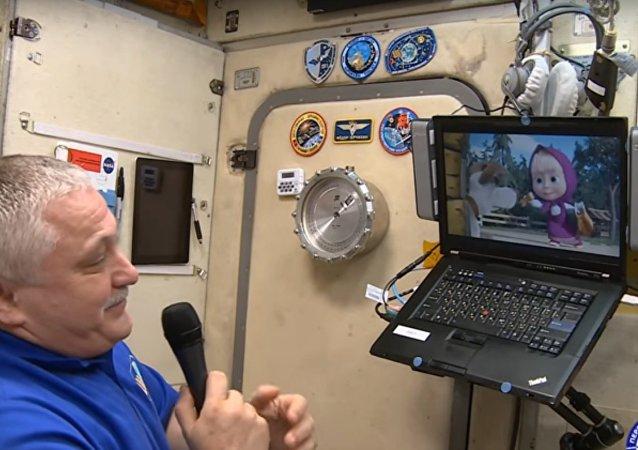 Le nouvel épisode «cosmique» de Masha et Michka fait rêver le chef de l'ISS
