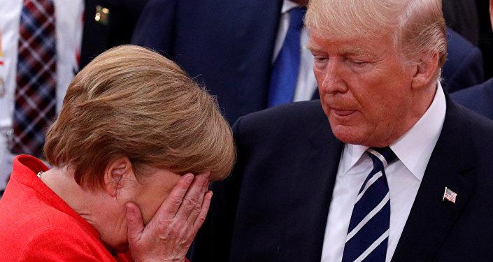 Angela Merkel et Donald Trump
