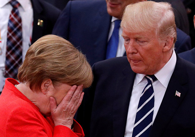 Angela Merkel et Donald Trump
