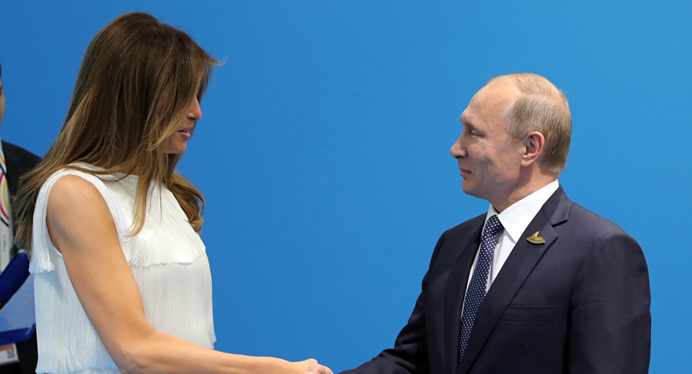 Melania Trump et Poutine, archives