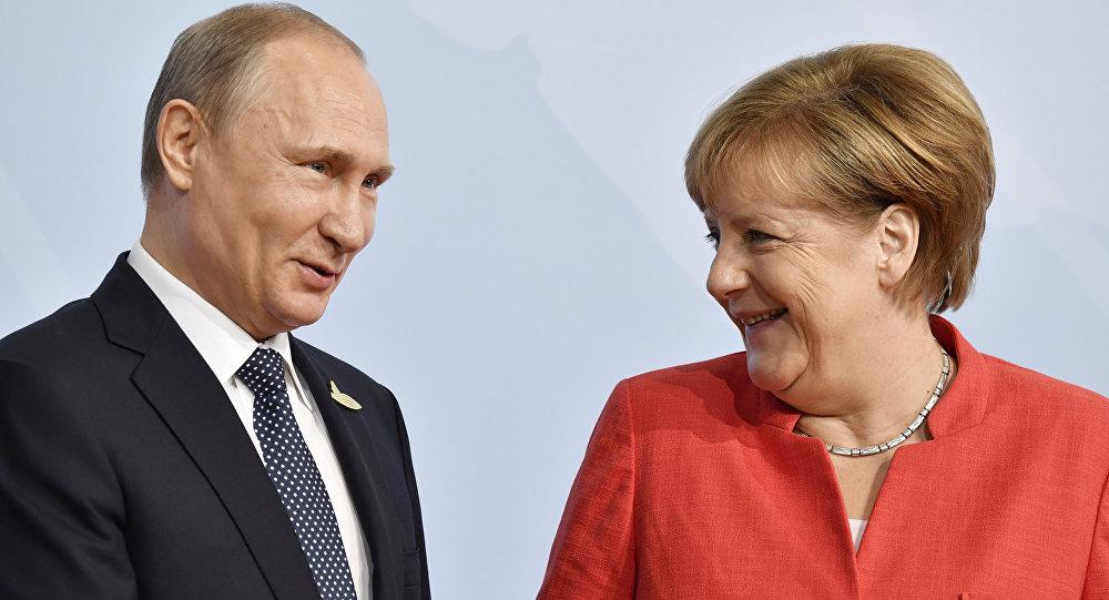 Poutine et Merkel