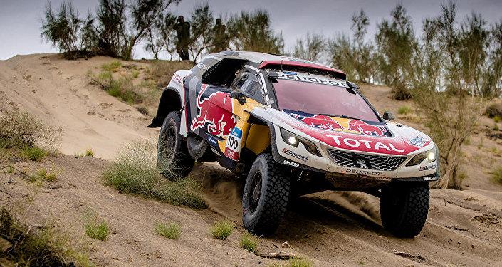 Le parcours du rallye de La route de la Soie dans les dunes