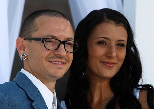 Chester Bennington et Talinda Bennington. Archive photo