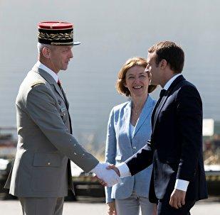 Emmanuel Macron,  Francois Lecointre et Florence Parly