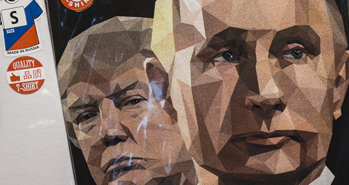 Une illustration de Donald Trump et Vladimir Poutine