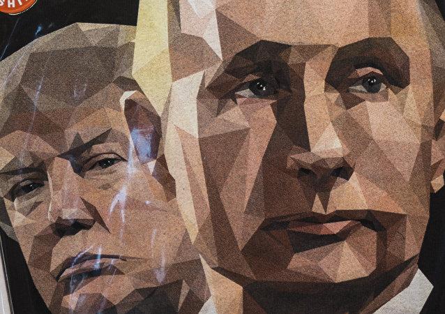 Une illustration de Donald Trump et Vladimir Poutine