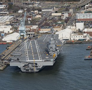 Le porte-avions américain de la classe Nimitz Gerald Ford