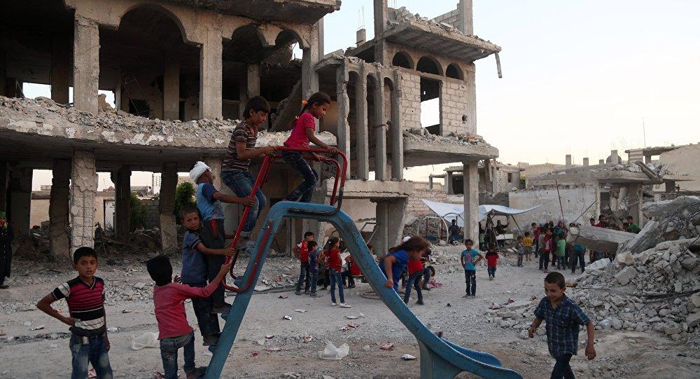 Des enfants syriens dans la Ghouta