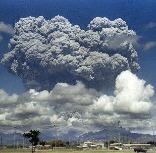 L'éruption du volcan philippin Pinatubo en juin 1991