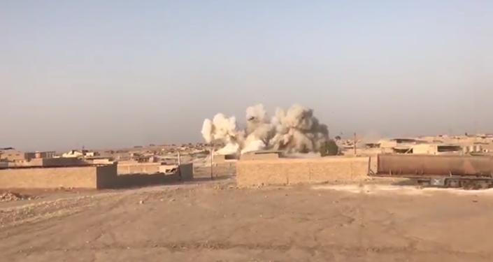 Destruction d'une usine de Daech à Mossoul