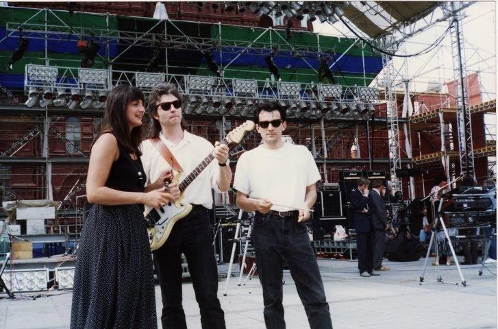 Yann Benoist sur la Place Rouge en 1992