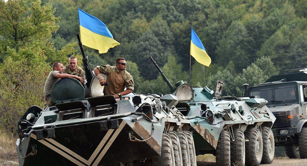 Un convoi militaire ukrainien. Archive photo