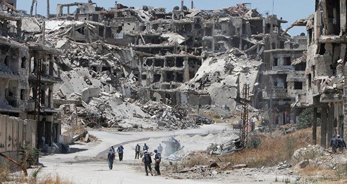 Un quartier de Homs