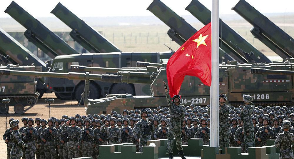 Un défilé militaire commémorant le 90e anniversaire de la fondation de l'Armée populaire de libération de Chine. Le 30 juillet 2017