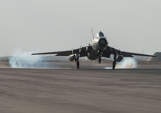 Un chasseur syrien Su-22