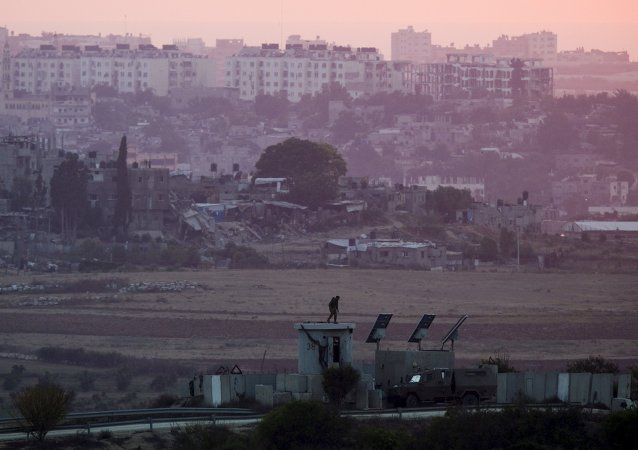 La frontière entre l'Israël et la bande de Gaza