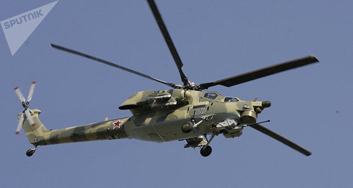 L'hélicoptère d'attaque Mi-28N