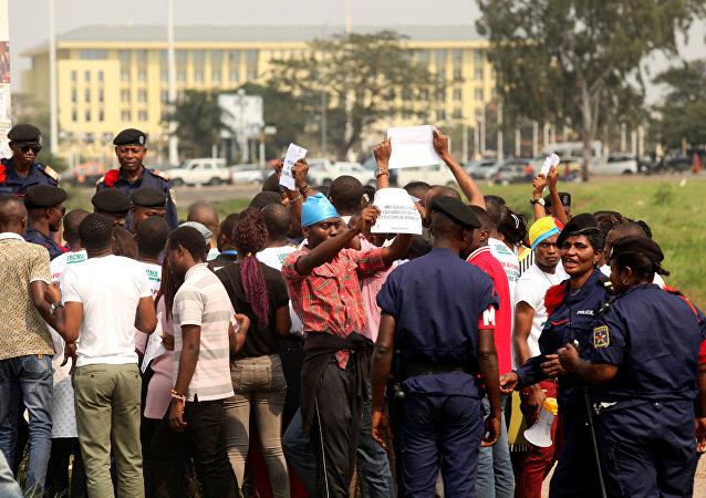 Protestation à Kinshasa