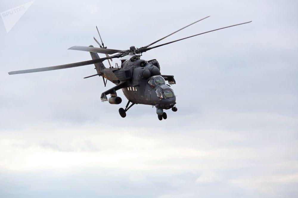 Un hélicoptère Mi-35