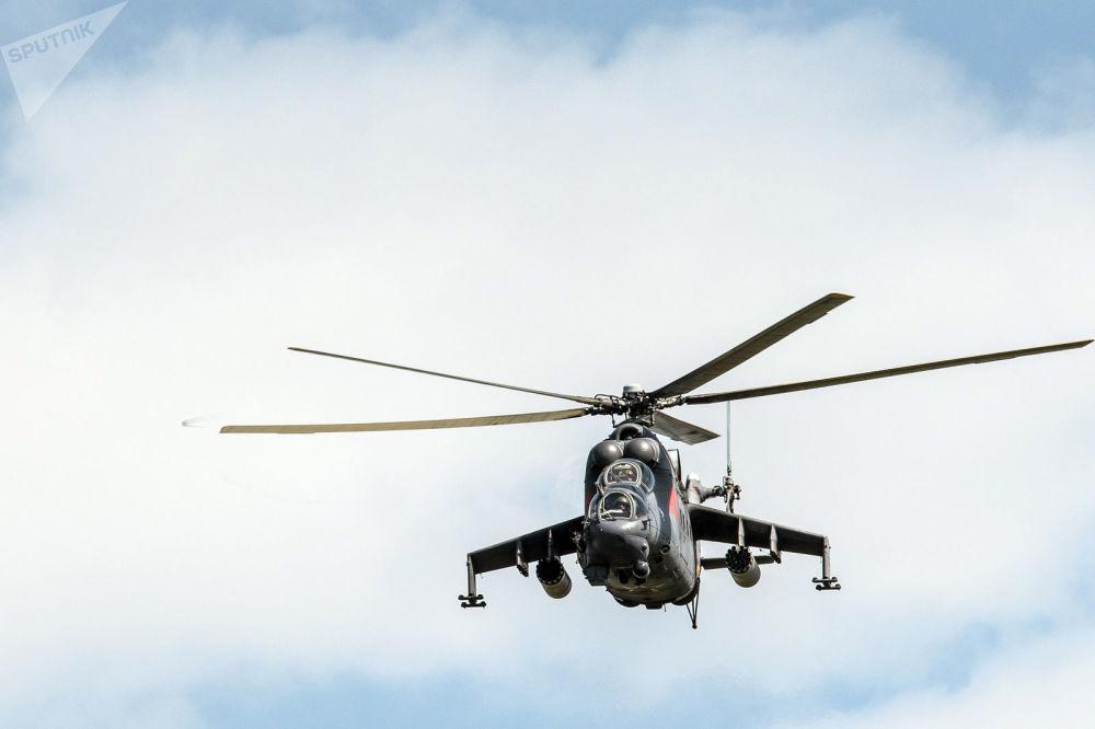 Un hélicoptère Mi-24