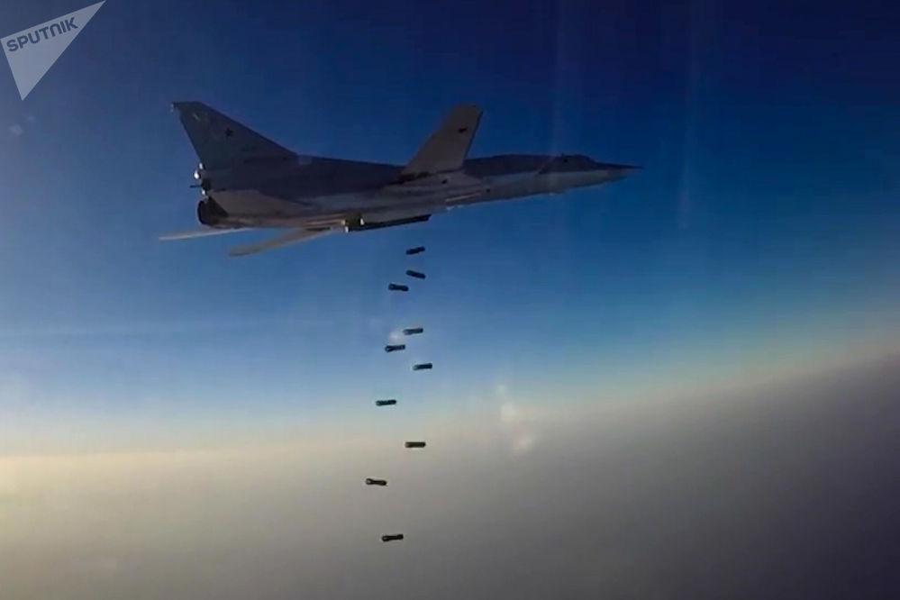 Un bombardier des Forces aérospatiales russes Tupolev Tu-22M3