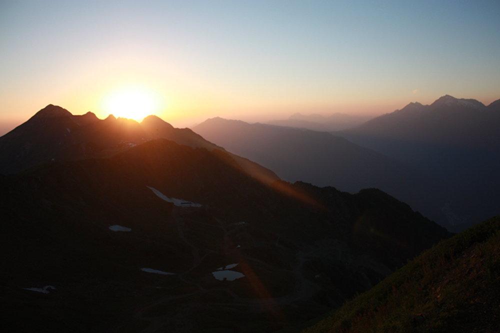 Coucher de soleil à Rosa Peak