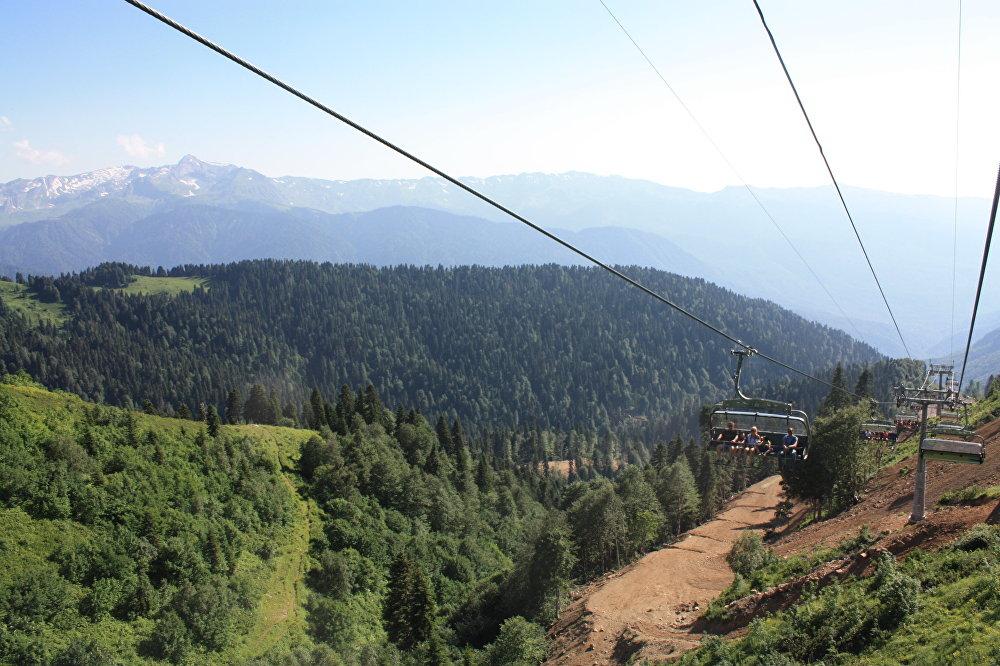 La piste Edelweiss située en Abkhazie