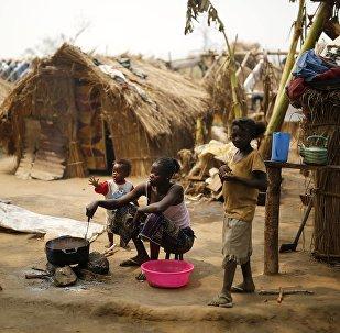 Un camp de réfugiés en Centrafrique