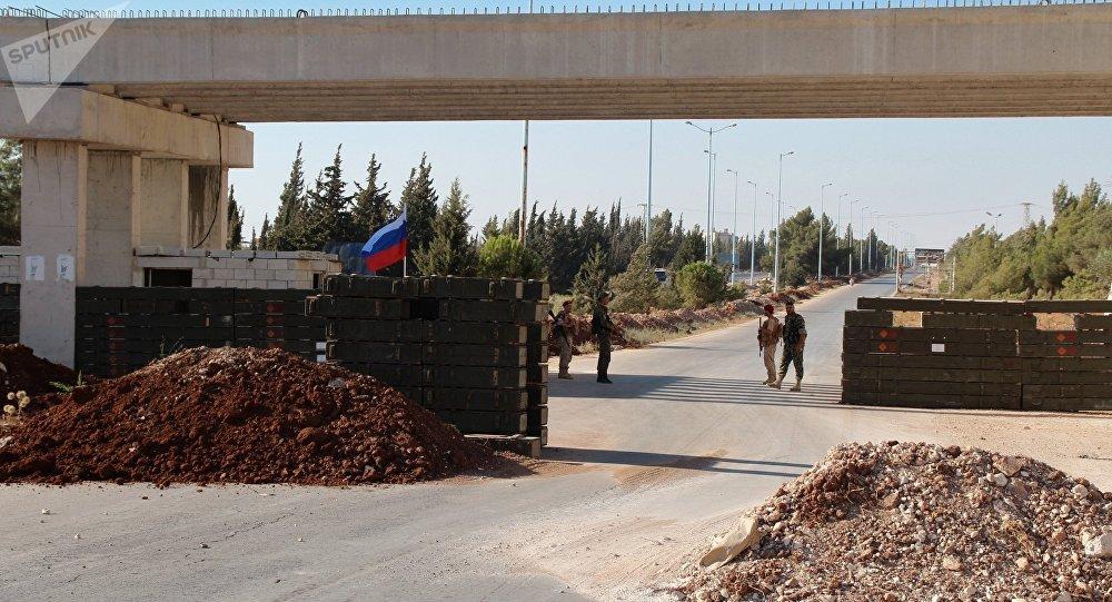 La route Homs-Hama en Syrie