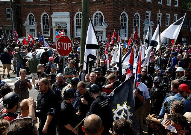 Manifestaction suprémaciste à Charlottesville, USA