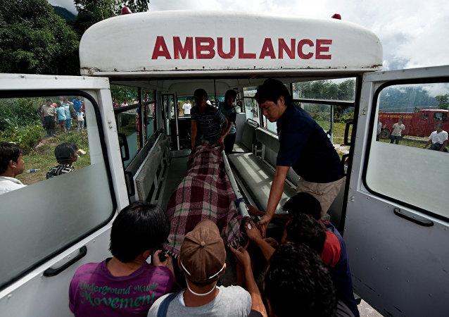 Une ambulance au Népal (archives)