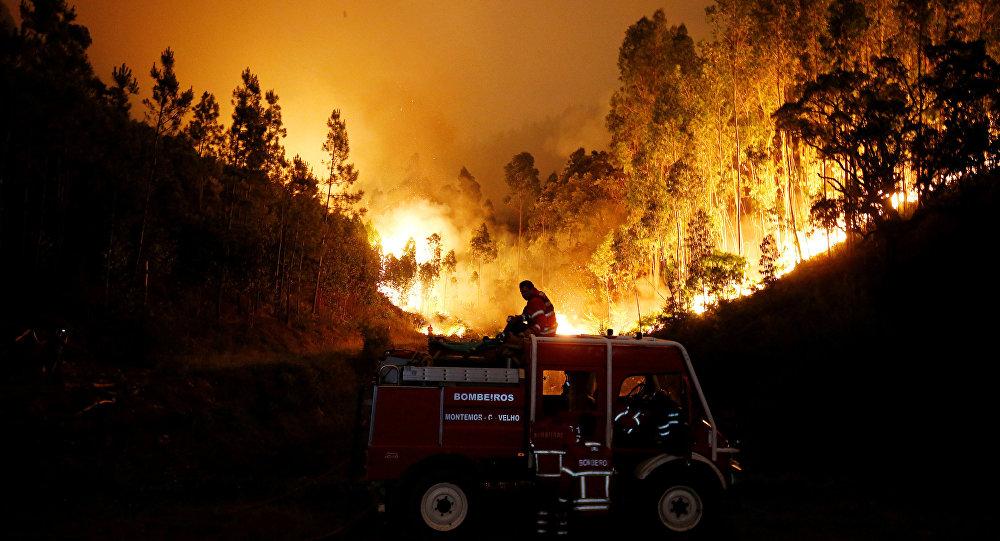 Feux de forêt au Portugal