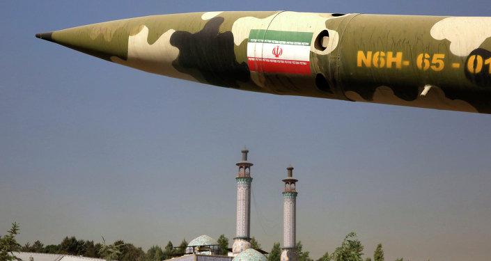 Un missile exposé à Téhéran