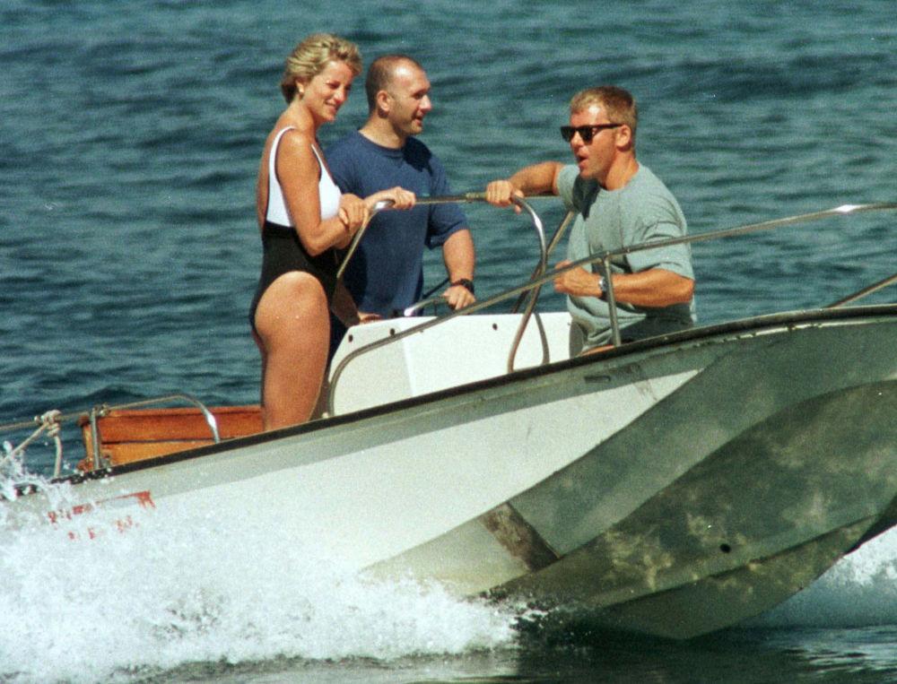 La princesse Diana en vacances sur la Côte d'Azur en France, 1997